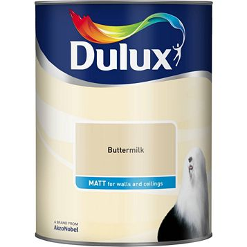 Dulux Buttermilk Matt Emulsion Paint 5L