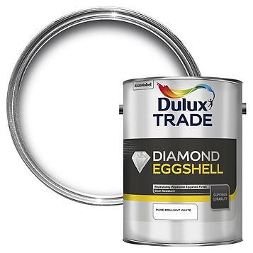Dulux Trade Diamond Interior Pure Brilliant White Eggshell Paint 5L Can