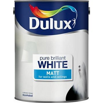Dulux Matt Emulsion Paint Pure Brilliant White, 5L