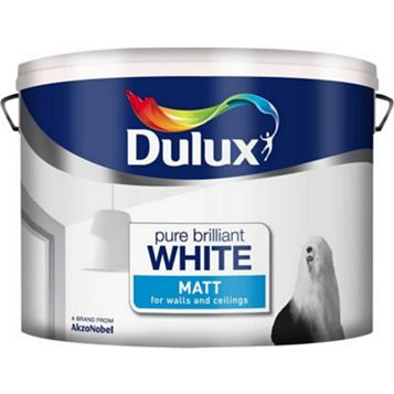 Dulux Emulsion Paint Pure Brilliant White, 10L