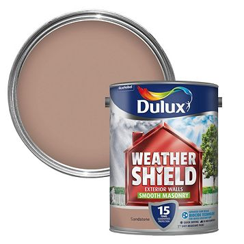 Dulux Weathershield Sandstone Beige Matt Masonry Paint 5000ml