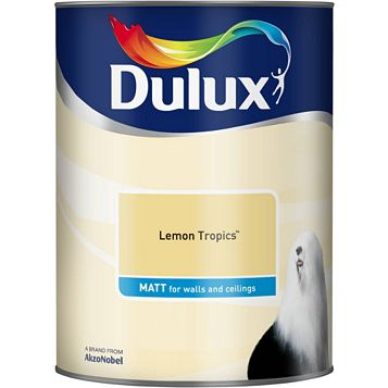 Dulux Emulsion Paint Lemon Tropics, 5L