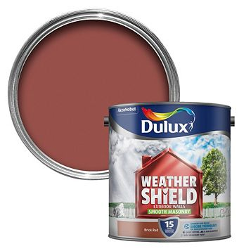 Dulux Weathershield Brick Red Smooth Masonry Paint 2.5L