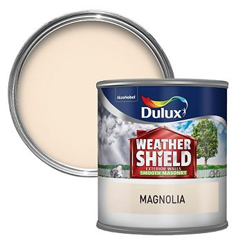 Dulux Weathershield Magnolia Cream Matt Masonry Paint 250ml Tester Pot