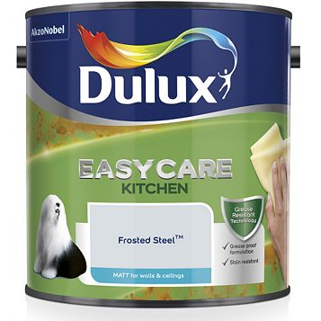 Dulux Kitchen Frosted Steel Matt Emulsion Paint 2.5L