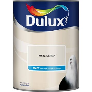 Dulux Emulsion Paint White Chiffon, 5L