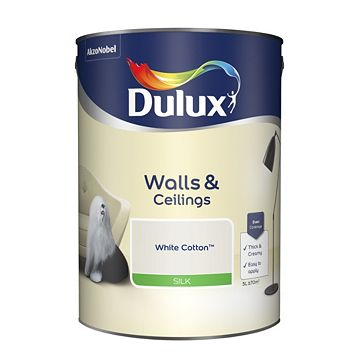 Dulux Emulsion Paint White Cotton, 5L