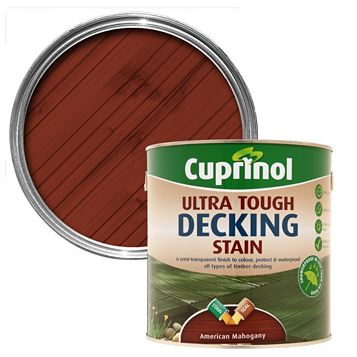 Cuprinol Ultra Tough American Mahogany Decking Stain 2.5L