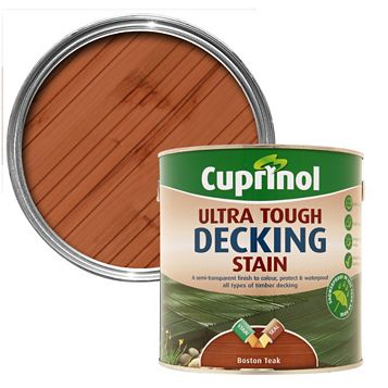 Cuprinol Ultra Tough Boston Teak Decking Stain 2.5L