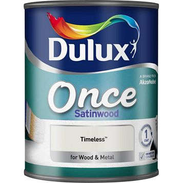 Dulux Once Interior Timeless Satinwood Paint 750ml