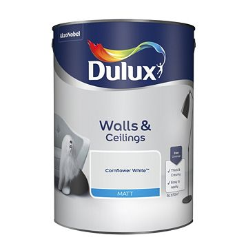 Dulux Emulsion Paint Cornflower White, 5L