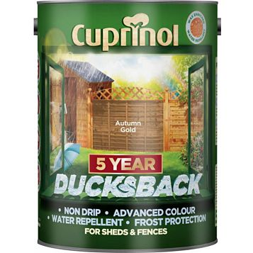 Cuprinol Shed & Fence Treatment Autumn Gold, 5L