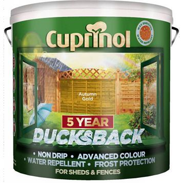 Cuprinol Shed & Fence Treatment Autumn Gold, 9L