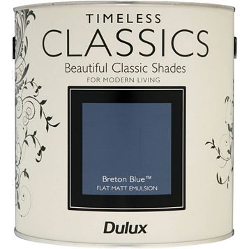 Dulux Timeless Classics Breton Blue Matt Emulsion Paint 2.5L