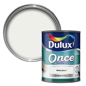 Dulux Interior White Cotton Satinwood Wood & Metal Paint 0.75L