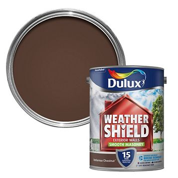 Dulux Weathershield Intense Chestnut Smooth Masonry Paint 5000ml
