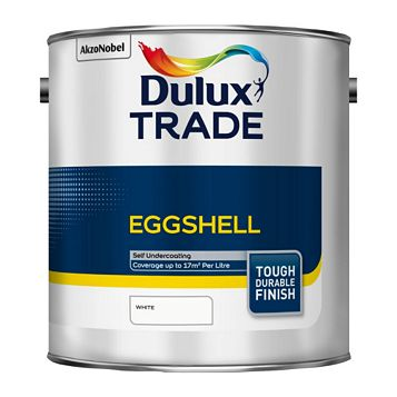 Dulux Trade Interior Eggshell White Eggshell Paint 2.5L