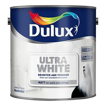 Dulux Ultra Brilliant White Matt Emulsion Paint 2.5L