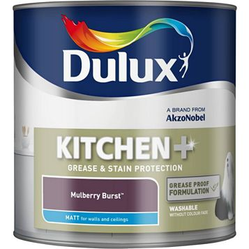 Dulux Kitchen + Mulberry Burst Matt Emulsion Paint 2.5L