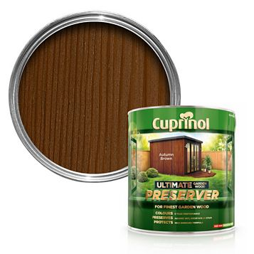 Cuprinol Ultimate Autumn Brown Garden Wood Preserver 4L