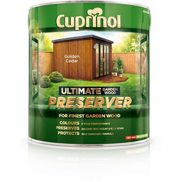 Cuprinol Ultimate Golden Cedar Wood Preserver 4L