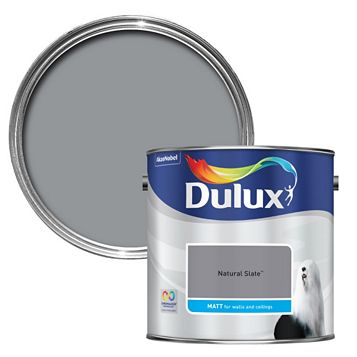 Dulux Standard Natural Slate Matt Paint 2.5L