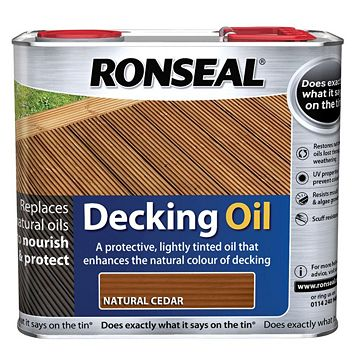 Ronseal Natural Cedar Decking Oil 2.5L
