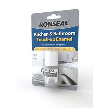 Ronseal Enamel Paint White, 10ml Tester Pot