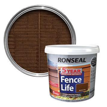 Ronseal Medium Oak Matt Shed & Fence Stain 5000ml