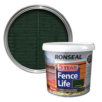 Ronseal Forest Green Matt Shed & Fence Stain 5000ml