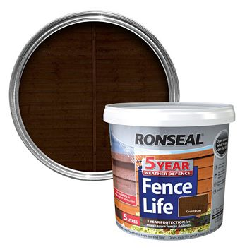 Ronseal Country Oak Matt Shed & Fence Stain 5000ml