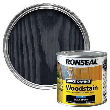 Ronseal Woodstain Ebony, 250ml