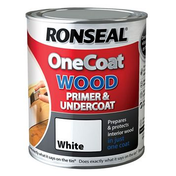 Ronseal One Coat White Wood Primer & Undercoat 750ml