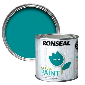 Ronseal Garden Paint Peacock, 250ml
