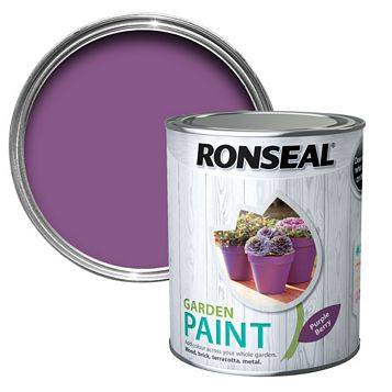 Ronseal Garden Paint Purple Berry, 750ml