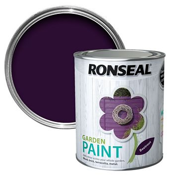 Ronseal Garden Paint Beetroot, 750ml