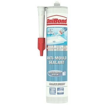 Unibond Anti-Mould Shower & Bathroom Translucent Sealant 300 ml