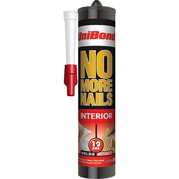 Unibond No More Nails Original Exterior Grab Adhesive White Solvent-Free, 300ml