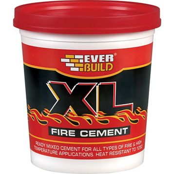 Everbuild Ready Mixed Fire Cement 1 kg Resealable Plastic Tub