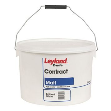 Leyland Trade Contract White Matt Emulsion Paint 10L