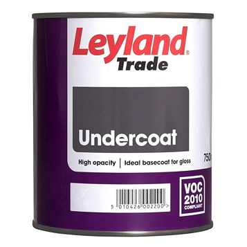 Leyland Trade White Matt Undercoat 750ml Tin