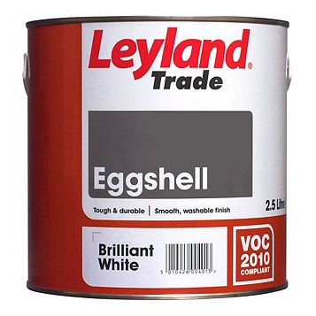 Leyland Trade Interior Brilliant White Eggshell Paint 750ml Tin
