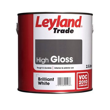 Leyland Trade Interior & Exterior Brilliant White Gloss Paint 2.5L