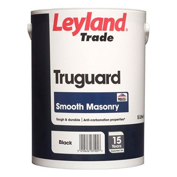 Leyland Trade Truguard Black Matt Masonry Paint 5L