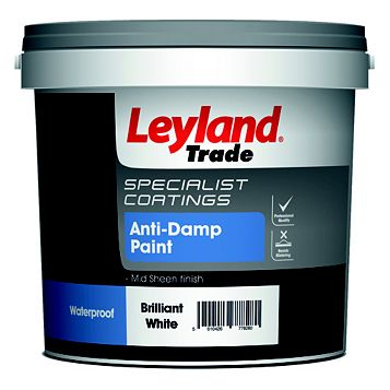 Leyland Trade White Mid Sheen Emulsion Paint 2.5L