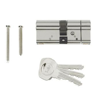 Yale 80mm Nickel-Plated Euro Cylinder Lock