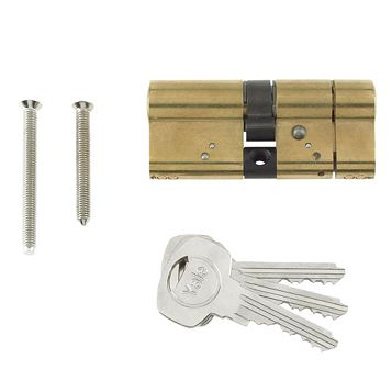 Yale 100mm Brass Plated Euro Cylinder Lock