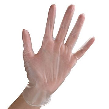 Vinyl Disposable Gloves, Pack of 100 Gloves