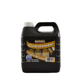 Bartoline Creocote Wood Treatment Light Brown, 4L, 3.95kg