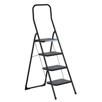 Abru 4 Tread Steel Step Stool, 1.665 M